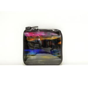 macromauro(マクロマウロ) / paint black wallet (2つ折り財布)|pop5151
