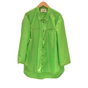RICE NINE TEN(ライス ナイン テン) / NARROW COLLAR TAFTA SHIRT (LIGHT GREEN)|pop5151