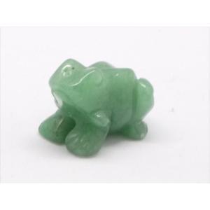天然石 置物 インド翡翠 蛙