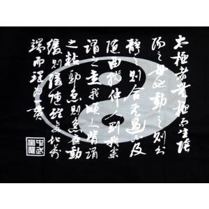 Tシャツ「太極 黒」 popi 04