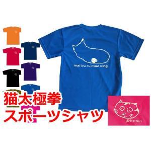 太極拳猫Tシャツ|popi