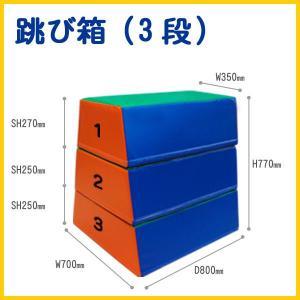 ウレタン跳び箱 3段 送料無料 日本製キッズコーナー|popnland