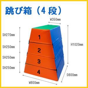ウレタン跳び箱 4段 送料無料 日本製キッズコーナー|popnland