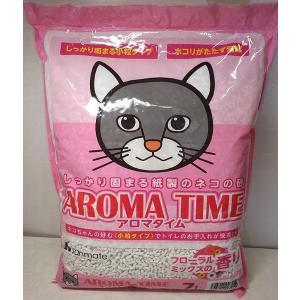 【在庫処分品】アロマタイム 7L フローラルミックスの香り 猫の紙砂|popola-soniashop