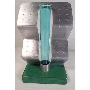 フラワーベース グリーンガラス管 一輪ざし  W10xD6xH16.5cm|popola-soniashop