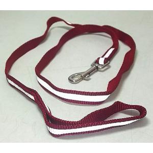 【在庫処分品】ライン入り犬用リード 巾1.5×122cm 赤|popola-soniashop