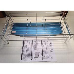 【在庫処分品】立てて片づけられる水切り55タイプ (ステンレス水切りバスケット) 日本製|popola-soniashop