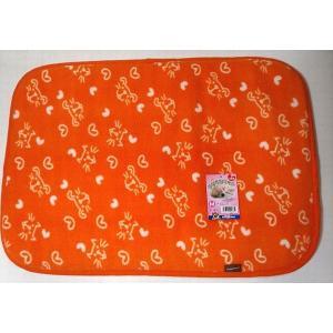 【在庫処分品】やすらぎマット Mサイズ  45cmx65cm オレンジ 犬猫用|popola-soniashop