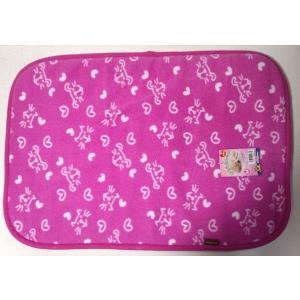 【在庫処分品】やすらぎマット Mサイズ  45cmx65cm ピンク 犬猫用|popola-soniashop