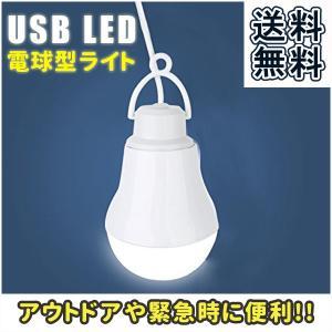 USB 電球 LED ライト 電球型 屋外 野外 照明 キャンプ アウトドア 停電 災害 防災用品|popularshop