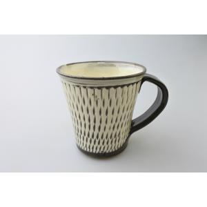 小鹿田焼*飛び鉋*マグカップ|porch-drop