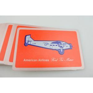 【ビンテージ】American Airlines(アメリカン航空)ノベルティPlaying cards トランプカード porch-drop