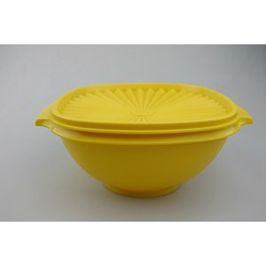【ビンテージ】日本製Tupperware(タッパーウェア) ポピー M*イエロー 密閉容器|porch-drop