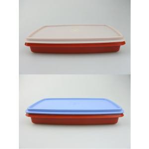 【アメリカビンテージ】アメリカ製Tupperware(タッパーウェア) スクエアコンテナ 2colors|porch-drop