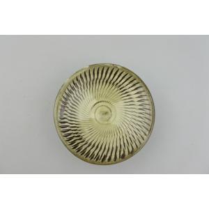 小鹿田焼*飛び鉋*3寸皿(豆皿)・グリーン系|porch-drop