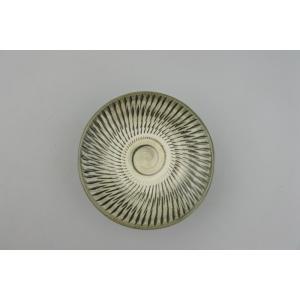 小鹿田焼*飛び鉋*3寸皿(豆皿)・白|porch-drop