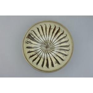 小鹿田焼*刷毛目*7寸中皿鉢|porch-drop