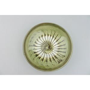 小鹿田焼*刷毛目*7寸中皿鉢・青緑|porch-drop