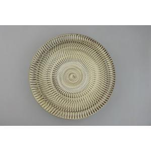 小鹿田焼*飛び鉋*8寸中皿鉢|porch-drop