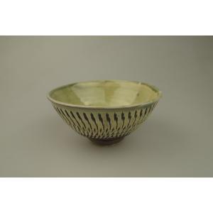 小鹿田焼*飛び鉋*4寸飯碗・茶碗・緑色|porch-drop