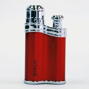 【SIGLO LIGHTER BEANSHAPE RED シグロ社製ターボライター ビーンシェイプ レッド】 ターボ 風に強い アウトドア 上質 確実な着火 ラグジュアリー感 プ|portarossa