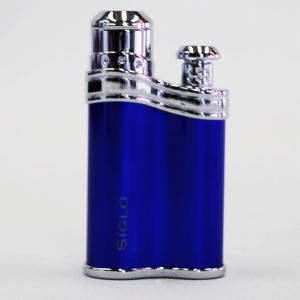 【SIGLO LIGHTER シグロ社製ライター ビーンシェイプ ブルー】ターボ 風に強い アウトドア 上質 確実な着火 ラグジュアリー感 プレゼント 誕生日 P25Ap|portarossa