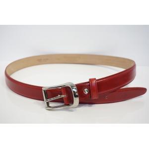 【TRIVALENTE:Roundbelt A.red】 トリヴァレンテ ラウンドベルト 赤 レッド ベルト MADE IN ITALY イタリア製 レザー ビジネス ショーツ メンズ 差し色|portarossa