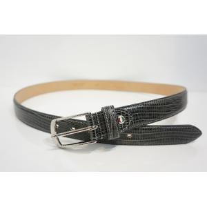 『TRIVALENTE:Straightbelt G.gray』 トリヴァレンテ ストレートベルト 型押し クロコ グレー MADE IN ITALY イタリア製 レザー ビジネス ショーツ メン|portarossa