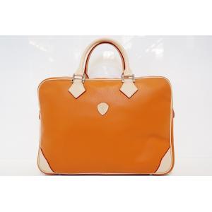 【DIRIGENTE A.orange(ディリジェンテ A.オレンジ/橙)】イタリア製 本革 トリバレ ビジネスバッグ P25Apr15|portarossa