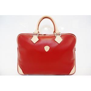 【DIRIGENTE A.red(ディリジェンテ A.レッド/赤)】イタリア製 本革 トリバレ ビジネスバッグ P25Apr15|portarossa