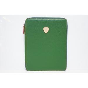 TRIVALENTE ipadCASE GREEN トリヴァレンテ i-padケース アイパッドケース カバー  グリーン 緑 タブレットケース ノートブックケース クラッチ イタリ|portarossa