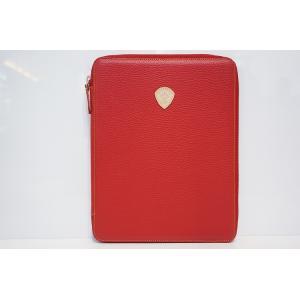 TRIVALENTE ipadCASE RED トリヴァレンテ i-padケース アイパッドケース カバー 赤 タブレットケース ノートブックケース クラッチ イタリア 革 レザー|portarossa