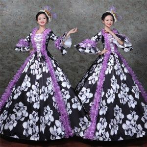 117b2c13d5e1f 大花柄ドレス オペラ声楽 貴族風豪華お姫様ドレス カラードレス ステージ衣装 プリンセスライン 演劇 ドレス 宮廷服ドレス 大きいサイズあり