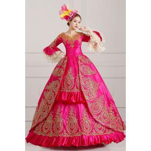5abaf6cee2b44 ローズドレス オーダーメイド可能 王族服 貴族服装 ヨーロッパ風結婚式服装 豪華な女王 復古風 演出服 パーティードレス ウェディングドレス