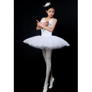 バレエ リトルスワン レオタード ドレス ダンス ステージ衣装 バレエ形体服 レディースのダンス衣装...
