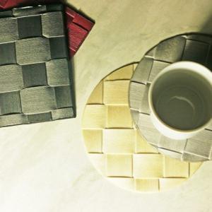 Saleen ザリーンの洗えるアミコースター ラウンド&カク 20色