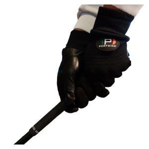 冬用 ゴルフグローブ 手袋 両手用 温かい メンズ ブラック 黒