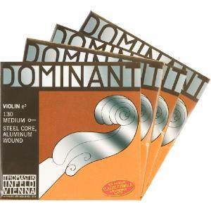 Dominant ドミナントバイオリン弦 SET(1E=130) 【メール便対応商品】 positive