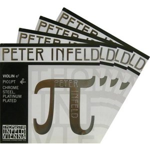 PETER Infeld ペーターインフェルド バイオリン弦SET<1E:プラチナ(21110)、3D:シルバー> 【メール便対応商品】