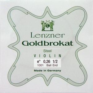 Lenzner ゴールドブラカット バイオリン弦 1E(0.26) 分数サイズ 【メール便対応商品】 positive
