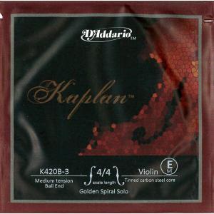 KAPLAN カプラン バイオリン弦 ゴールデンスパイラルソロ 1E 【メール便対応商品】 positive
