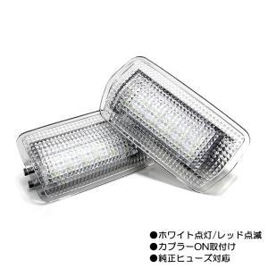 レクサス/トヨタ/ニッサン/スバル等汎用 フラッシング/点滅 カーテシランプ LED ホワイト/レッド|possible