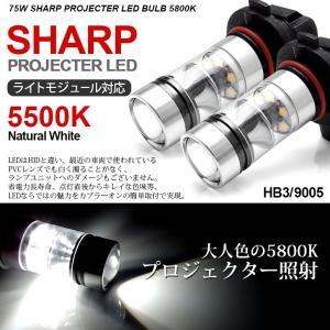 20系 前期 後期 アルファード LED ハイビーム HB3 75W SHARP 6500K/ホワイト 2個/1セット|possible