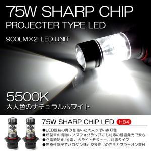70系 前期 VOXY ヴォクシー Z/ZS LED フォグランプ HB4 75W SHARP 6500K/ホワイト 2個/1セット possible