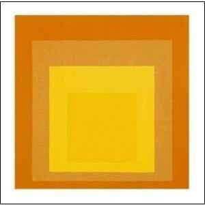 -アルバース-正方形へのオマージュ(600×600mm)-正方形仕様- -おしゃれインテリアに- poster