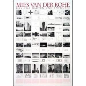 【ミース・ファン・デル・ローエ ポスター】建築物と草案(70cm×100cm)|poster