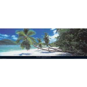 ポスター Mahe Seychelles 33cm×95cm 海 -おしゃれインテリアに-|poster