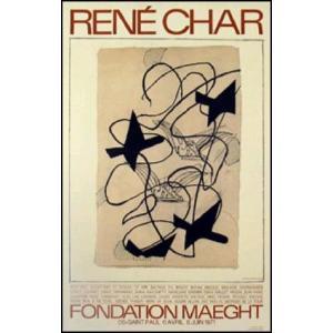 【ジョルジュ・ブラック ポスター】Rene Char(リトグラフ)492x778mm poster