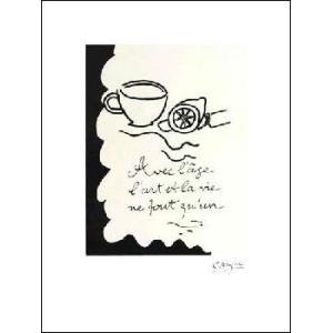 -ジョルジュ・ブラック アートポスター-Avec L'age,1917-1947(450×600mm)-リトグラフ- -おしゃれインテリアに-|poster
