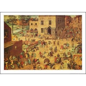 【ブリューゲル ポスター】子供の遊戯(600×838mm)|poster